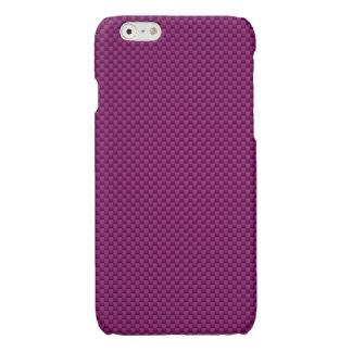 Fuchsia Pink Carbon Fiber Print Automotive Texture Glossy iPhone 6 Case