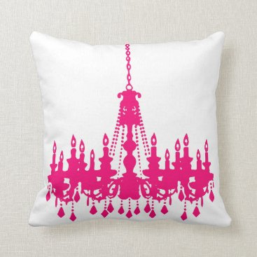Toddler & Baby themed Fuchsia Pink Chandelier  Designer Pillow