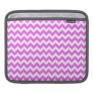 Fuchsia Pink Chevron Stripes Sleeve For iPads