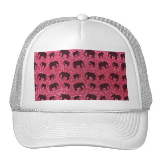 Fuchsia pink elephant glitter pattern hat