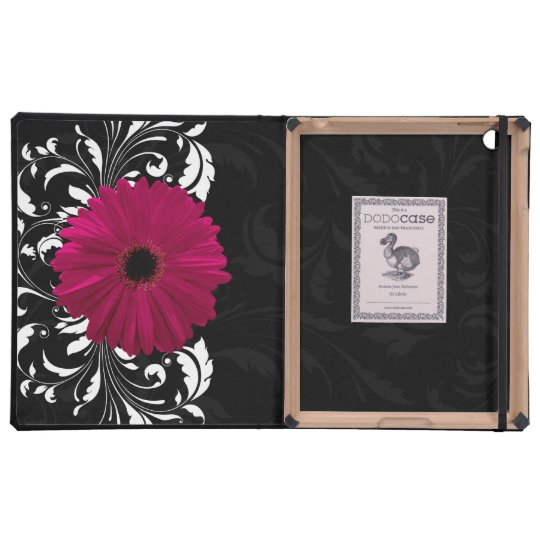 Fuchsia Pink Gerbera Daisy Swirl iPad Covers