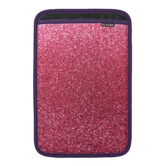 Fuchsia pink glitter MacBook sleeves