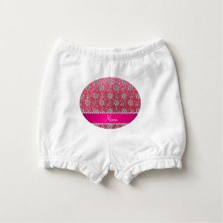 Fuchsia pink glitter silver anchors ships wheel diaper cover