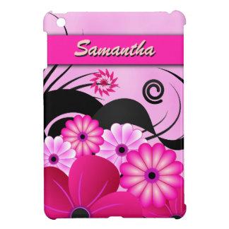 Fuchsia Pink Hibiscus Floral Custom iPad Mini Case
