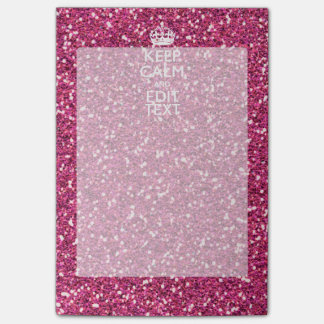 Fuchsia Pink Keep Calm Have Your Text Post-it® Notes