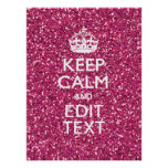 Fuchsia Pink Keep Calm Have Your Text Poster