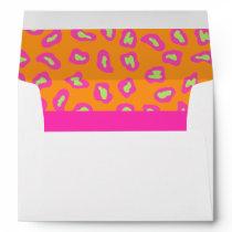 Fuchsia Pink & Orange Zebra & Cheetah Skin Envelope