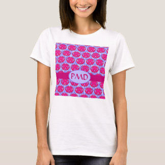 Fuchsia Pink Purple Art Nouveau Damask Monogram T-Shirt