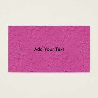 Fuchsia Pink Stucco Look Business Card