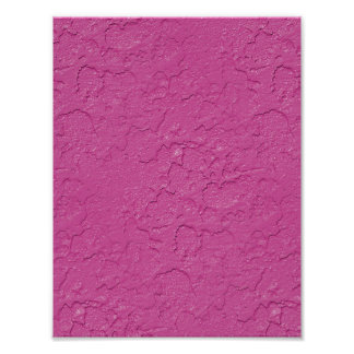 Fuchsia Pink Stucco Look Poster