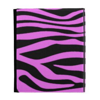Fuchsia Pink Zebra Stripes Animal Print iPad Folio Cases