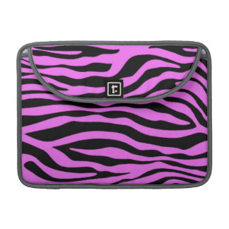 Fuchsia Pink Zebra Stripes Animal Print Sleeve For MacBooks