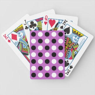 Fuchsia Polka Dots Bicycle Playing Cards