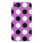 Fuchsia Polka Dots iPhone 4 Cover