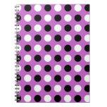 Fuchsia Polka Dots Notebook