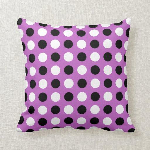Fuchsia Polka Dots Pillows