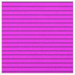 [ Thumbnail: Fuchsia & Purple Colored Pattern of Stripes Fabric ]