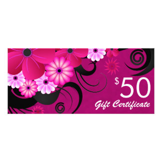 Fuchsia Purple Elegant Custom $50 Gift Certificate