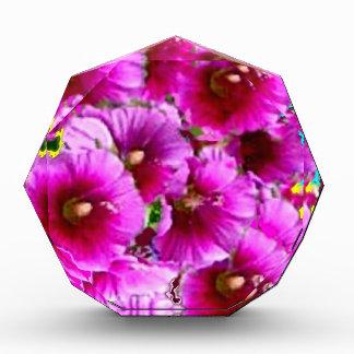 Fuchsia Purple  Hollyhock Flowers by Sharles Awards