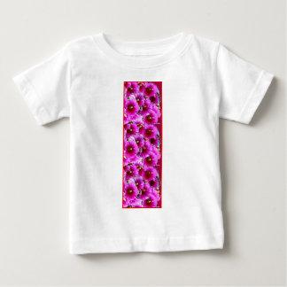 Fuchsia Purple  Hollyhock Flowers by Sharles Baby T-Shirt