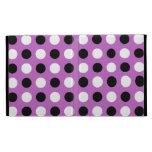 Fuchsia Purple Polka Dots iPad Folio Covers