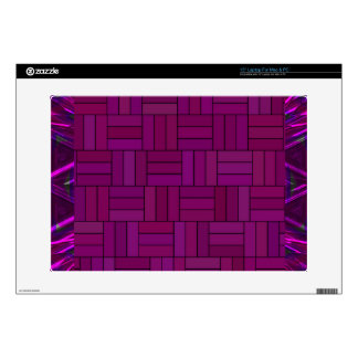 Fuchsia & Purple Shimmer Tiled Pattern Decal For Laptop