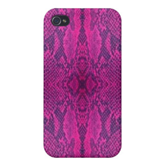 Fuchsia Purple Snakeskin Blackberry iPhone iPod Ca iPhone 4/4S Cases