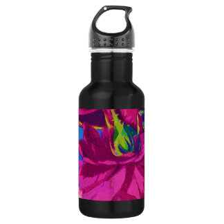 Fuchsia Roses Water Bottle
