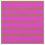 [ Thumbnail: Fuchsia & Sienna Colored Pattern of Stripes Fabric ]