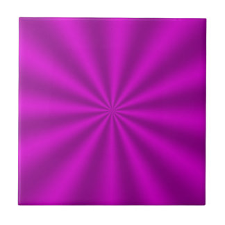 Fuchsia Starburst Ceramic Tile