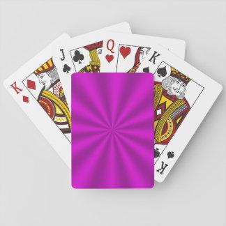 Fuchsia Starburst Classic Playing Cards