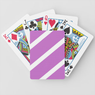 Fuchsia Stripes Bicycle Playing Cards