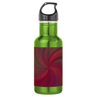 Fuchsia Swirl Stainless Steel Water Bottle