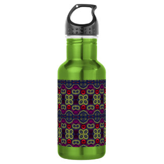 Fuchsia Tapestry Stainless Steel Water Bottle