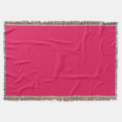 Fuchsia Throw Blanket