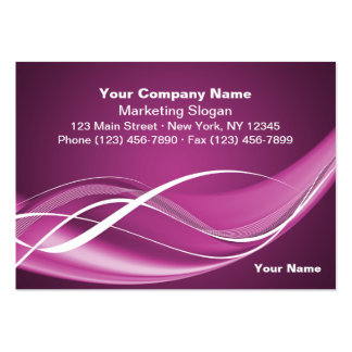 Fuchsia Wave Large Business Cards (Pack Of 100)