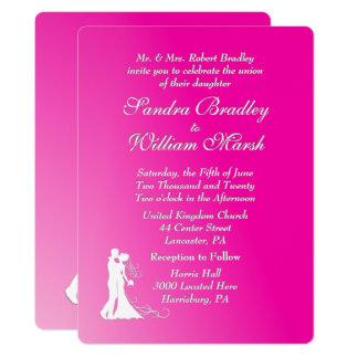 Fuchsia Wedding Invitation