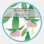 Fuchsia Wedding Stickers