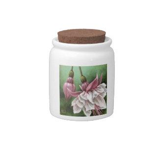 Fuchsias Candy Jar