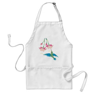 FUCHSIAS & HUMMINGBIRD by SHARON SHARPE Adult Apron