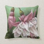 Fuchsias Throw Pillows