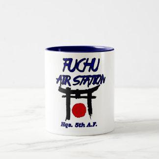 fuchu air station japan Two-Tone coffee mug