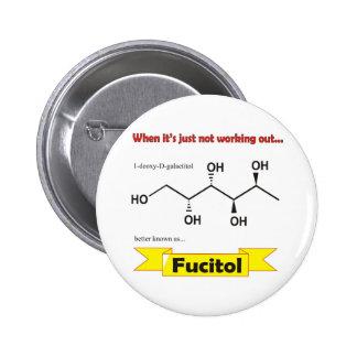 Fucitol Organic molecule Pinback Button