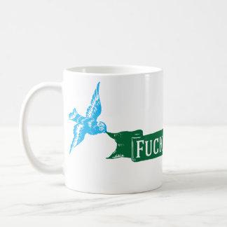 fuck cancer vintage birds coffee mug