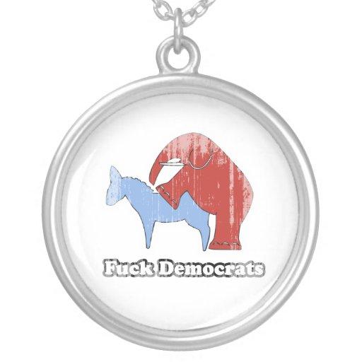 Fuck Democrats Faded.png Custom Jewelry