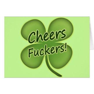 Fuckers de las alegrías tarjeta de felicitación