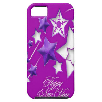 Fucshia and Purple Happy New Year Shooting Stars iPhone SE/5/5s Case