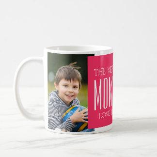 Fucsia de encargo de la taza del día de madre de