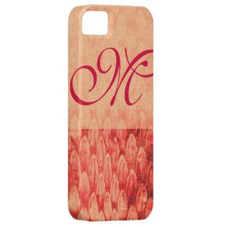 Fucsia rosado rojo del MONOGRAMA del CROTALUS iPhone 5 Case-Mate Coberturas