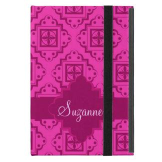Fucsia rosado y gráfico magenta del marroquí del iPad mini carcasas